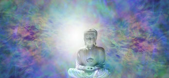 Pure Enlightenment Buddha Banner Royalty Free Stock Photo