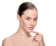 Pure female face Stock Images