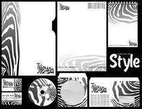 The pure forms with the Zebra logo. Royalty Free Stock Photography