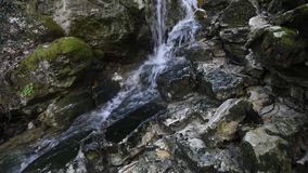 Pure fresh water waterfall stock footage