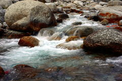 Pure fresh waterfall  in a Himalayan river Stock Images