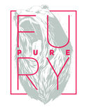 Pure fury sign Royalty Free Stock Image