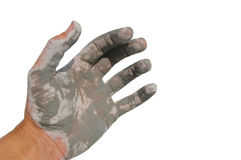 Pure glacier mud on hand Royalty Free Stock Image