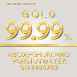 Pure Gold Alphabet and Digit Vector Stock Photography