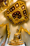 Pure Gold Buddha Image at Wat Traimit, Bangkok, Thailand Royalty Free Stock Photography