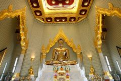 Pure gold Buddha, Trimit Temple, Bangkok, Thailand Stock Images