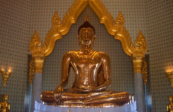 Pure gold Buddha in Wat Traimit Temple Royalty Free Stock Photography
