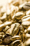 Pure Gold Coffee Beans Royalty Free Stock Images