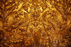 Pure gold double phoenix totem in luoyang, China. The pure gold double phoenix totem of empress wu zetian of zhou dynasty in luoyang, China stock images