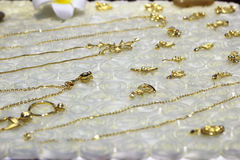 The pure gold jewelry Royalty Free Stock Photo