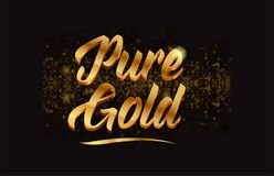 Goldenlogotype copy 84. Pure gold gold word text with sparkle and glitter background suitable for card, brochure or typography logo design Royalty Free Stock Images