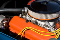 Pure Horse Power. Classic Sports Car Engine; close-up Royalty Free Stock Photography