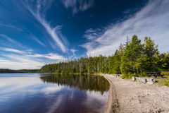 Pure Lake. Haida Gwaii British Columbia Stock Photo
