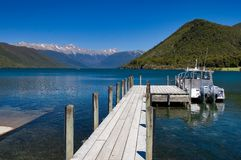 Pure Lake Rotoiti New Zealand. Pure sky pure lake rotoiti New Zealand Royalty Free Stock Photos