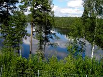 Pure landscape - Norway. Idyllic lake with crystal clear water. The pure nature Stock Photo