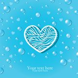 Pure love card with drops Stock Images