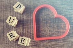 Pure Love message Royalty Free Stock Photos
