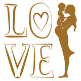 Pure Love print Royalty Free Stock Photo