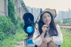 Pure and lovely Asian girl royalty free stock photos