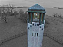 Pure Michigan Belle isle lighthouse. Belle isle light house Royalty Free Stock Images