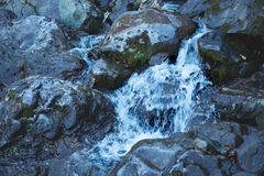 Pure natural source of drinking water stock images