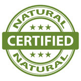 Pure Natural stamp Royalty Free Stock Image