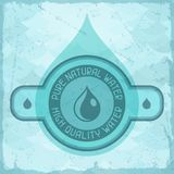 Pure natural water background in retro style Royalty Free Stock Images