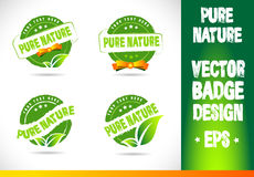 Pure nature Badge Logo Vector Stock Photos
