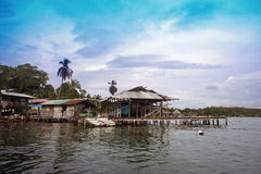 Pure nature. Tropical paradise island in panama Stock Images