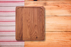 Pure notebook for recording menu, recipe on  tablecloth tartan. Stock Image