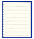 Pure notebook for records Royalty Free Stock Image