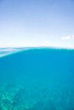 Pure ocean blue. Turquoise blue ocean water background calm and clear Royalty Free Stock Photography