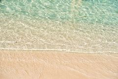Free Pure Ocean Water. Azure Waves Golden Sand Top View. Flux And Reflux. Sea Beach. Clean Water. Luxury Vacation Tropic Stock Images - 153426574