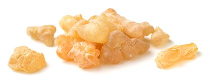 Pure Organic Frankincense Resin isolated on white. Pure Organic Frankincense Resin isolated on the white background Stock Image