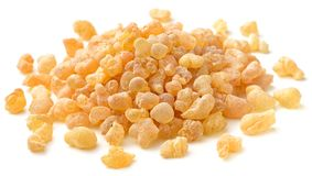Pure Organic Frankincense Resin isolated on white. Pure Organic Frankincense Resin isolated on the white background Royalty Free Stock Photography