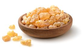 Pure Organic Frankincense Resin isolated on white. Pure Organic Frankincense Resin isolated on the white background Royalty Free Stock Photo