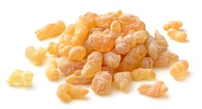 Pure Organic Frankincense Resin isolated on white. Pure Organic Frankincense Resin isolated on the white background Stock Photography