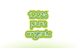 100% pure organic word text logo icon typography design Stock Images