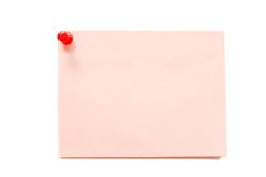 Pure paper with the button Royalty Free Stock Photo