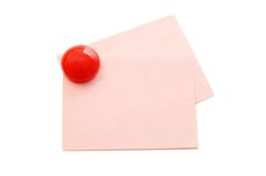 Pure paper with the button Royalty Free Stock Photography