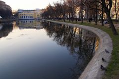 Pure ponds. Moscow Stock Image