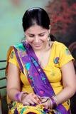 Pure punjaban girl. A sweet pure Punjabi girl blushing. she is looking so beautiful and elegant. she is wearing a pure Punjabi dress Royalty Free Stock Images