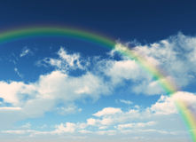 Pure rainbow. Illustration of a realistic beautiful rainbow Stock Photography