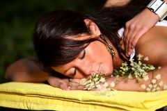 Pure Relaxation stock image