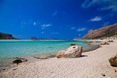 Pure Sea in Balos Lagoon Royalty Free Stock Photos