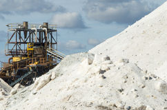 Pure  Sea salt mountain in a saline in Sardinia and blu sky Stock Photo