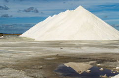 Pure  Sea salt mountain in a saline in Sardinia Royalty Free Stock Photo