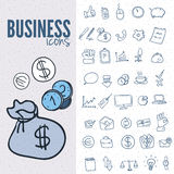 Pure series | Hand drawn internet,business icon set Royalty Free Stock Photography