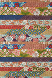Pure silk textile. Beautifull pure silk textile, japanese traditional crafts Stock Images