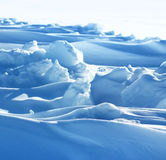 Pure arctic snow formation Royalty Free Stock Photos